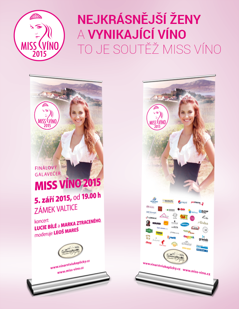 MISS Víno 2015 roll-up